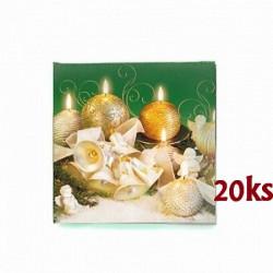 Vánoční ubrousky 3vrstvé 33x33 - motiv 84036 [20 ks]