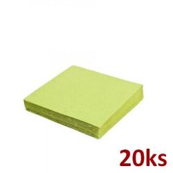 Papírové ubrousky žlutozelené 33 x 33 cm 3-vrst [20 ks]