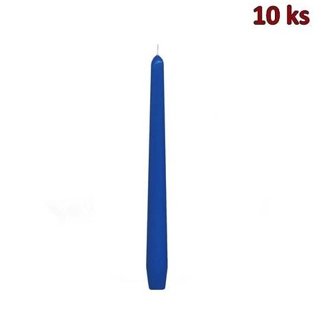 Svíčka kónická 245 mm tmavě modrá [10 ks]