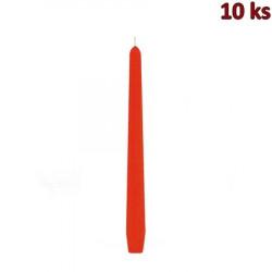 Svíčka kónická 245 mm oranžová [10 ks]