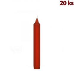 Svíčka rovná 170 mm červená [20 ks]
