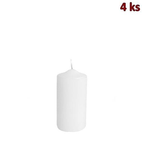 Svíčka válcová Ø 40 x 80 mm bílá [4 ks]