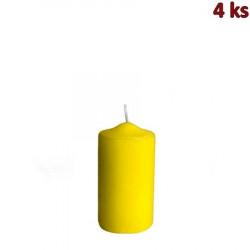 Svíčka válcová Ø 40 x 80 mm žlutá [4 ks]