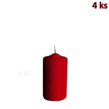Svíčka válcová Ø 40 x 80 mm bordová [4 ks]