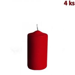 Svíčka válcová Ø 50 x 100 mm bordová [4 ks]