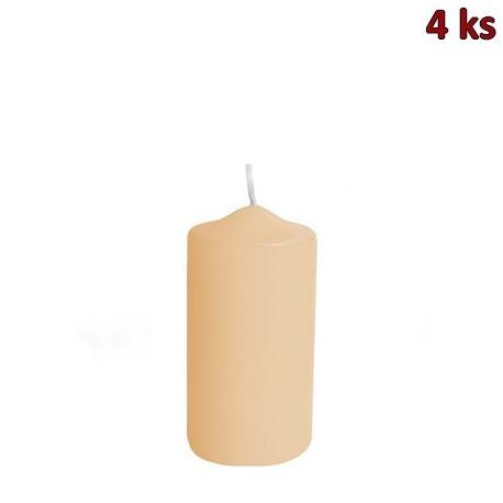 Svíčka válcová Ø 50 x 100 mm béžová [4 ks]
