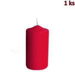 Svíčka válcová Ø 60 x 120 mm červená [1 ks]