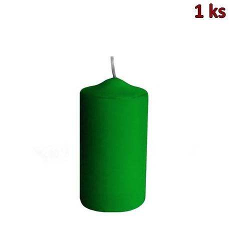 Svíčka válcová Ø 60 x 120 mm tmavě zelená [1 ks]