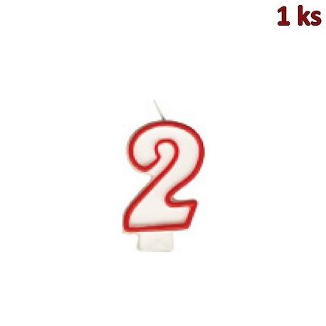 """Narozeninová svíčka číslo """"2"""" 75 mm [1 ks]"""