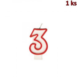 """Narozeninová svíčka číslo """"3"""" 75 mm [1 ks]"""