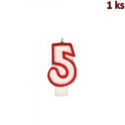"""Narozeninová svíčka číslo """"5"""" 75 mm [1 ks]"""