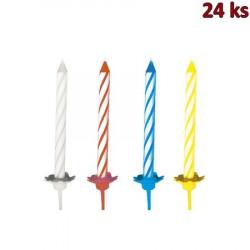 Narozeninové svíčky se stojánkem 60 mm [24 ks]