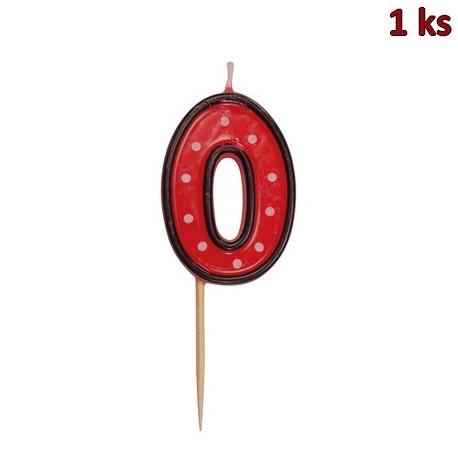 "Svíčka na dort na špejli ""0"" 50 mm [1 ks]"