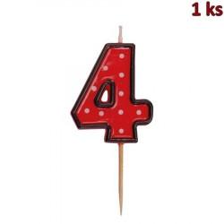 "Svíčka na dort na špejli ""4"" 50 mm [1 ks]"