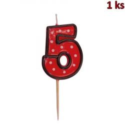 "Svíčka na dort na špejli ""5"" 50 mm [1 ks]"
