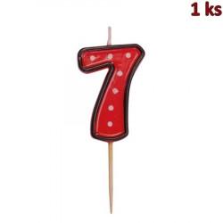 "Svíčka na dort na špejli ""7"" 50 mm [1 ks]"