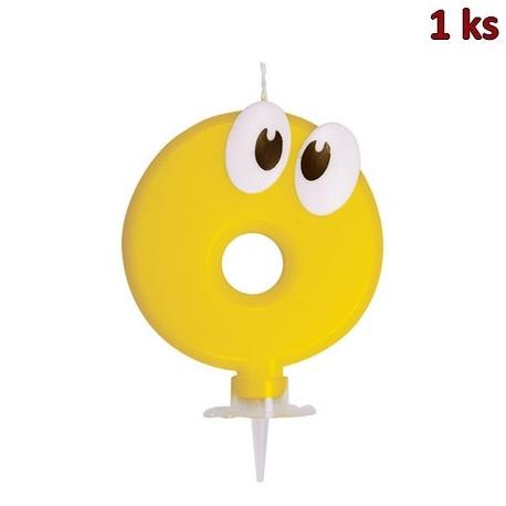 """Narozeninová svíčka se stojánkem """"0"""" 80 mm [1 ks]"""