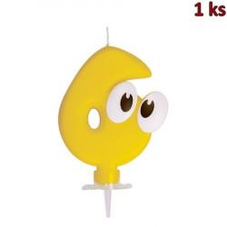 """Narozeninová svíčka se stojánkem """"6"""" 80 mm [1 ks]"""
