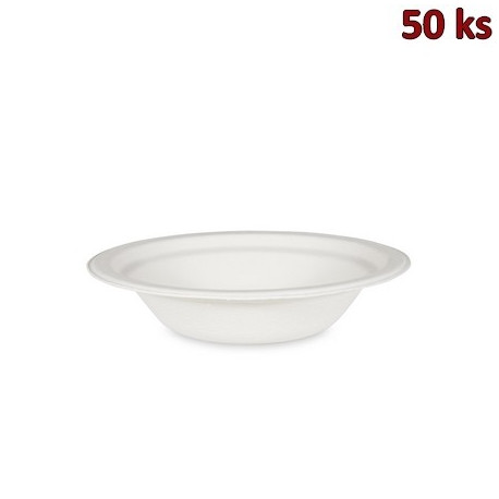 BIO miska kulatá cukrová třtina 400 ml, Ø 18 x 4 cm [50 ks]