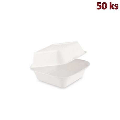 BIO box na hamburger cukrová třtina 152 x 150 x 78 mm [50 ks]