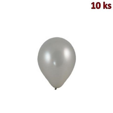 Nafukovací balónky stříbrné M [10 ks]