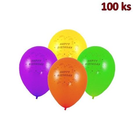 Nafukovací balónky Happy Birthday M [100 ks]