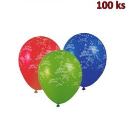 Nafukovací balónky Happy Birthday L [100 ks]