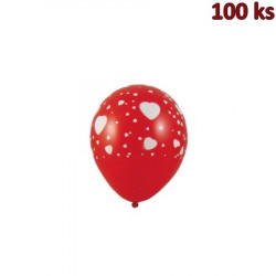 """Nafukovací balónky """"Bílá srdíčka"""" L [100 ks]"""