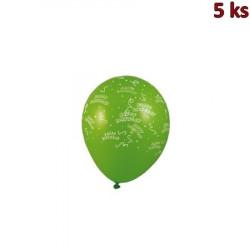 Nafukovací balónky Happy Birthday L [5 ks]