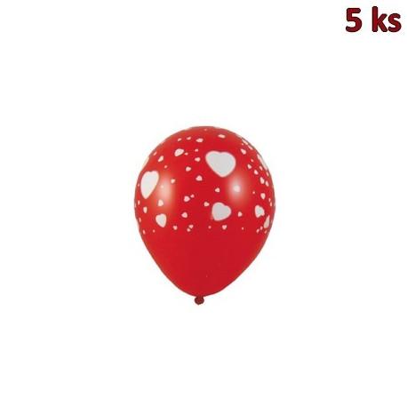 """Nafukovací balónky """"Bílá srdíčka"""" L [5 ks]"""