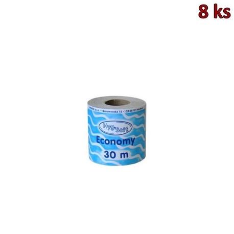 Toaletní papír 1-vrstvý, Ø 10 cm, 30 m, natural [8 ks]