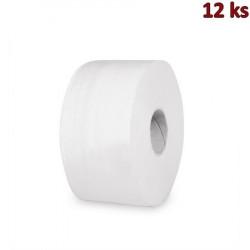 Toaletní papír JUMBO 190 mm tissue 2-vrstvý, bílý [12 ks]