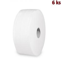 Toaletní papír tissue JUMBO 2-vrstvý Ø 27 cm, bílý [6 ks]