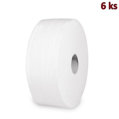 Toaletní papír tissue JUMBO 2-vrstvý Ø 27 cm bílý [6 ks]