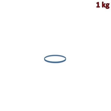 Gumičky modré slabé (1 mm, Ø 2 cm) [1 kg]
