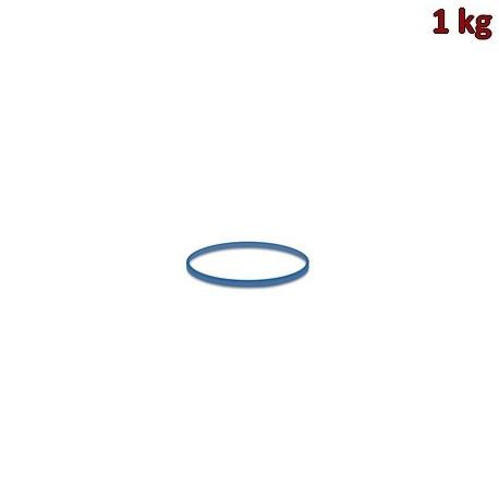 Gumičky modré slabé (1 mm, Ø 3 cm) [1 kg]