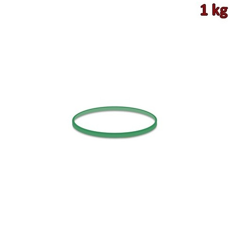 Gumičky zelené slabé (1 mm, Ø 5 cm) [1 kg]
