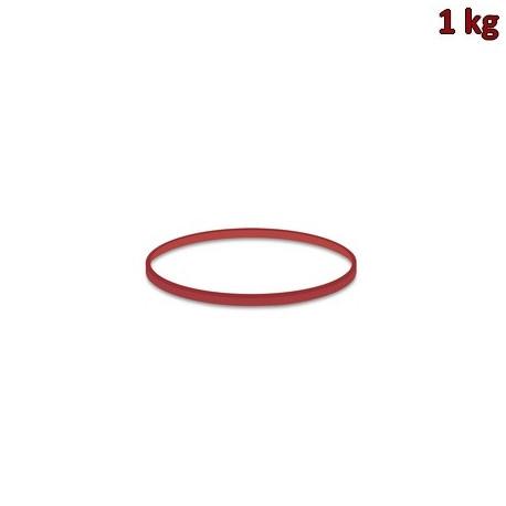 Gumičky červené slabé (1 mm, Ø 6 cm) [1 kg]