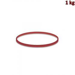 Gumičky červené slabé (1 mm, Ø 8 cm) [1 kg]