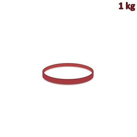 Gumičky červené silné (3 mm, Ø 5 cm) [1 kg]