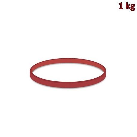 Gumičky červené silné (3 mm, Ø 8 cm) [1 kg]
