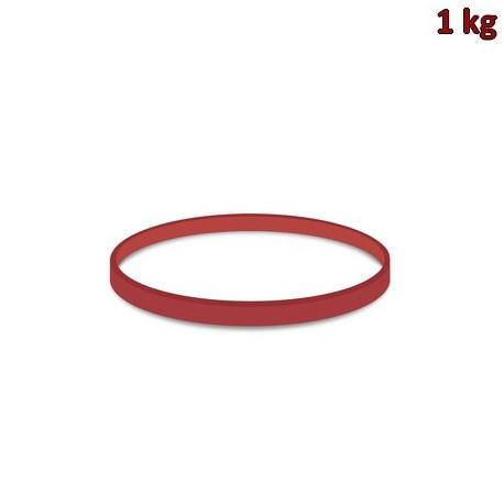 Gumičky červené silné (4 mm, Ø 8 cm) [1 kg]