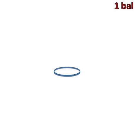 Gumičky modré slabé (1 mm, Ø 2 cm) 50 g [1 bal.]