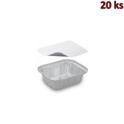 Miska hranatá ALU 250 ml včetně víčka [20 ks]
