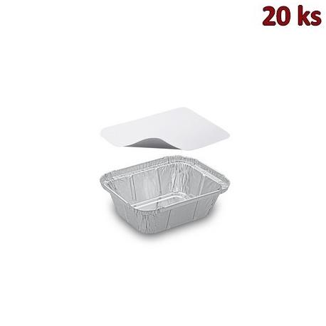 ALU miska hranatá 250 ml včetně víčka [20 ks]