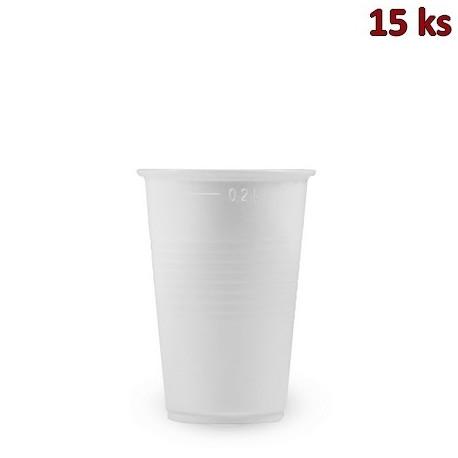 Plastový kelímek bílý 0,2 l PP [15 ks]