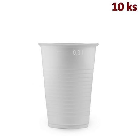 Plastový kelímek bílý 0,3 l PP [10 ks]