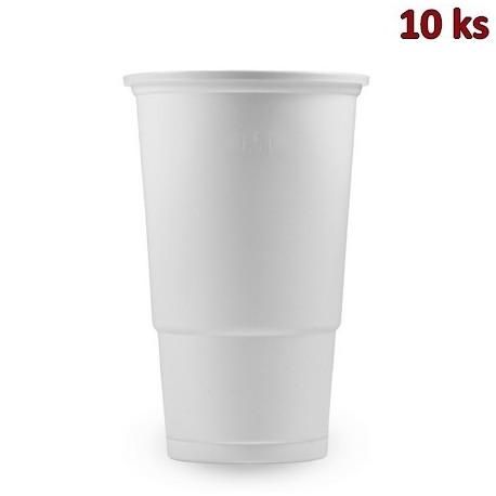 Kelímek bílý 0,5 l PP [10 ks]