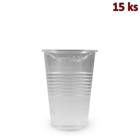 Plastový kelímek průhledný 0,2 l PP [15 ks]