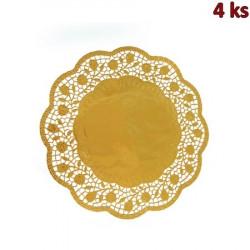 Dekorativní krajky kulaté, zlaté Ø 30 cm [4 ks]